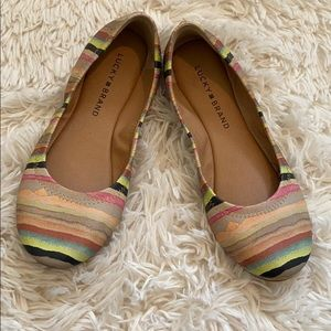 Lucky brand Emmie striped flats